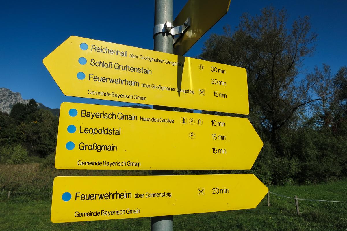 Mit dem Rad rund um den Untersberg.