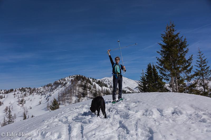 Schneeschuhtour  Rotkogel 1585 m. 2019