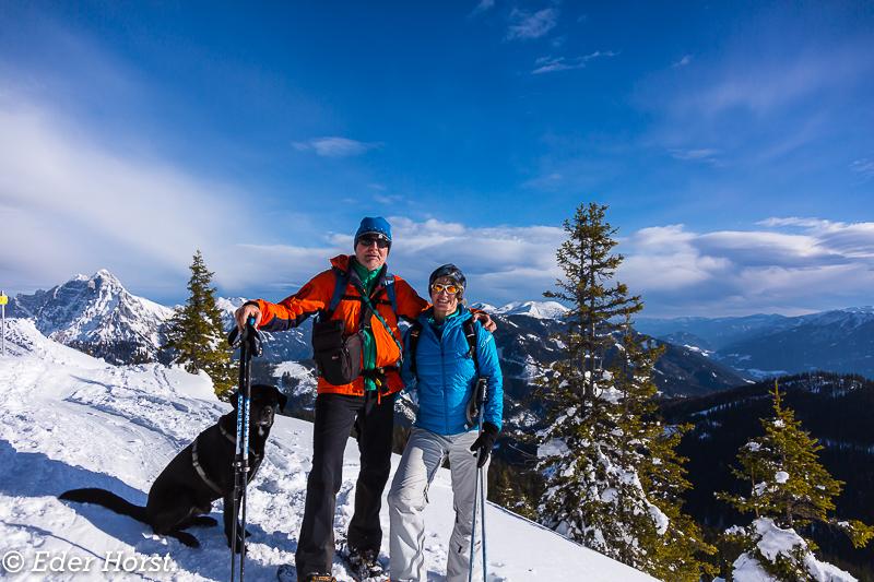 Schneeschuhtour auf den Lahngangkogel 1778m.  2018
