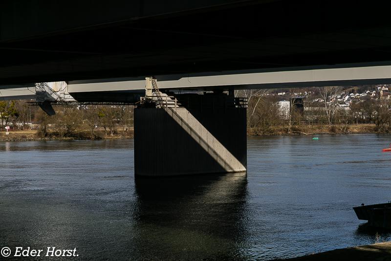 Unterwegs auf der Vöstbrücke…