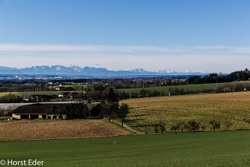 Blick von Axberg Richtung Süden…Ins Alpenvorland…