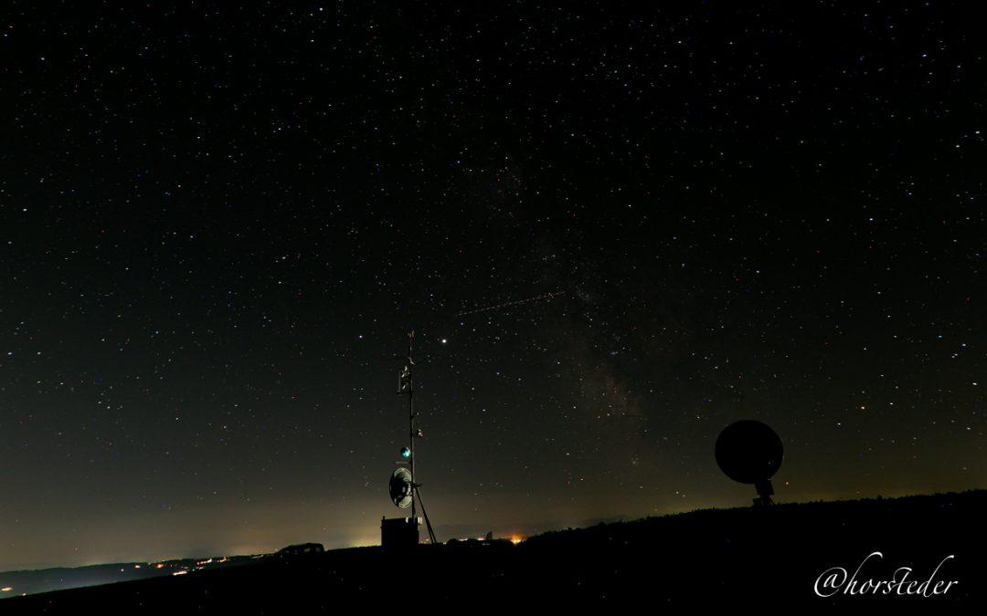 Erste Versuche denn Sternenhimmel zu fotografieren.