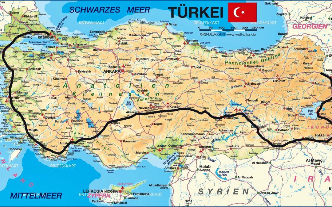 Mit dem T3 – Bus durch die Türkei..