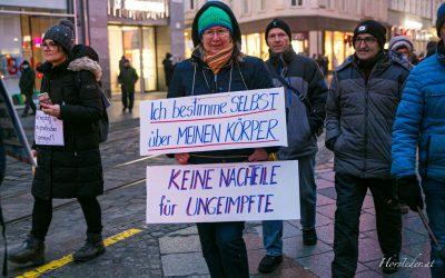 Corona – Demonstration in Linz……