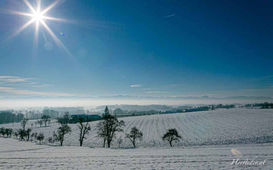 Weitblick im Winter….Von Axberg ins Land schaun…
